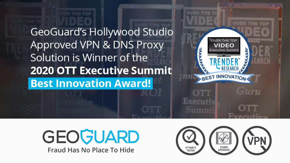 OTT Best Innovation Award 2020