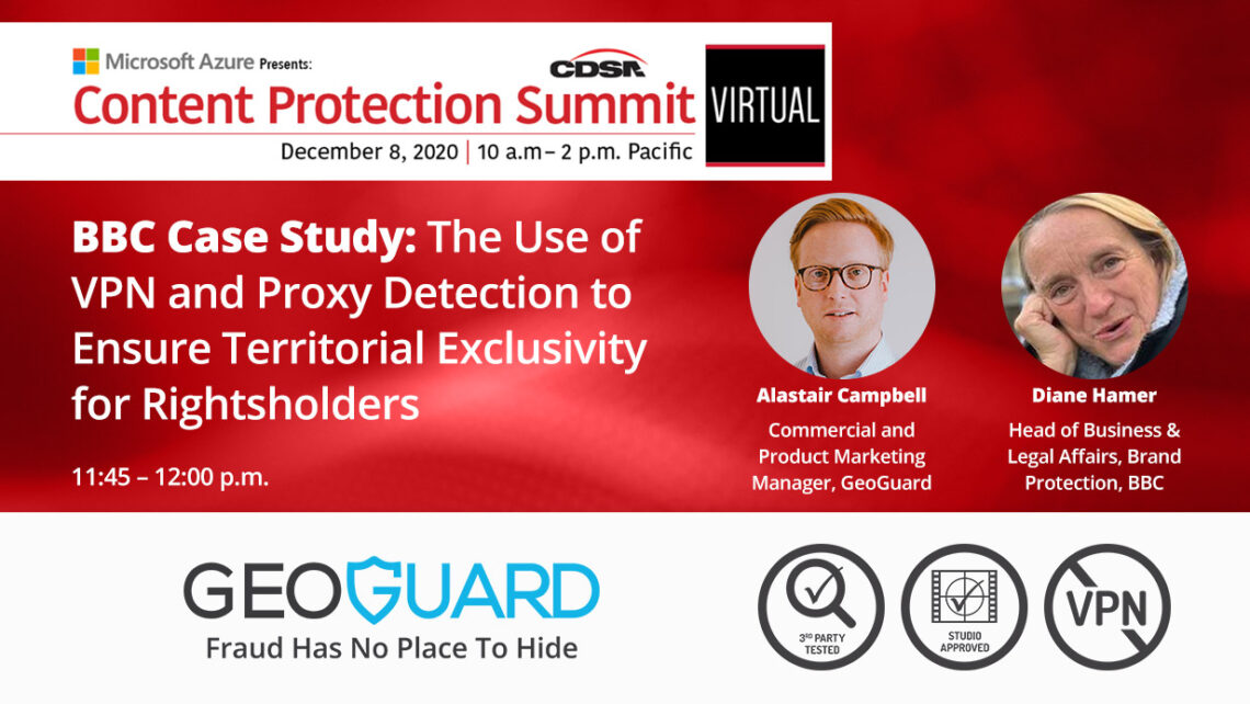 CDSA content protection summit GeoGuard